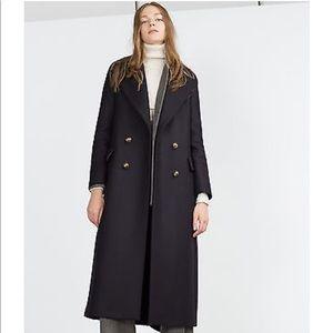 Zara Long coat with metallic Buttons